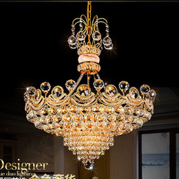 Wholesale Royal Lamps - Modern Crystal chandelier light Fixtures Upscale Royal Crystal Ceiling Lustre Home lighting crystal Pendant Lamps Led Bulb