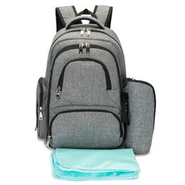 Wholesale Boy Diaper Bags - Baby Diaper Bag For Boys Girls Stoller Mother Wetbag Multifunctional Mummy Backpack Large Capacity Nappy Bags Gray Changing Bag