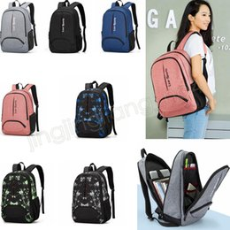 Wholesale luggage kids - 7colors Unisex Backpack oudoor camping hiking travel luggage backpack college school student bag business computer kids bag GGA583 5pcs