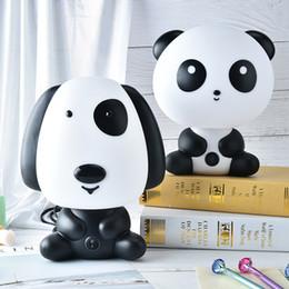 Wholesale night pandas - Baby Room Cartoon Kids Bed Lamp Night Sleeping Lamp with Panda Dog Shape Night Sleeping Light Table Lamps