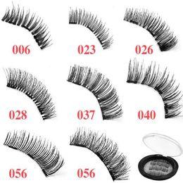 Wholesale Wholesale Lash Strips - 2pcs set 8 Styles Magnetic Eyelashes 3D False Eyelashes with 3 Magnets Handmade Cilios Eye Lash Extension Eye Lashes CCA9523 50set