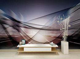 forro tejido Rebajas Europan Photo Wallpaper 3D Wall Murals Líneas abstractas Wallpapers Mural For Tv Backdrop papel tapiz no tejido