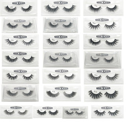 Wholesale lashes box - 3D False Eyelashes 22 Styles Handmade Beauty Thick Long Soft Lashes Fake Eye Lashes Eyelash Gift Box Package 3001217