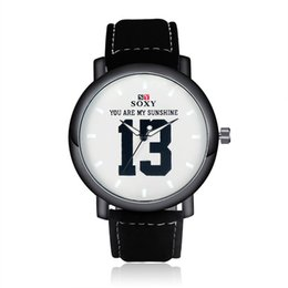 Wholesale Glasses Sunshine - YOU ARE MY SUNSHINE Lovers Romantic Watch Fashion Leather Strap Watches Men And Women Popular Quartz Watch Boy Gril Hour Clock