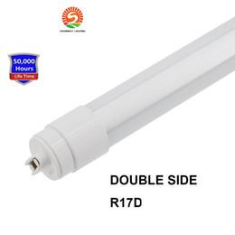 Wholesale Side Emitting Led Lights - 360 degree Emitting T8 Double Side LED tube lights G13 R17D Rotating 4ft 28W 6ft 42W 8ft 65w Sign Box Lighting LED Lights
