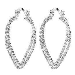 Wholesale Cheap Hoop Earrings Wholesale - Wholesale- heart cheap silver plated hoop earring for women hot sale fashion jewelry gift large size love lovely party earring wholesale