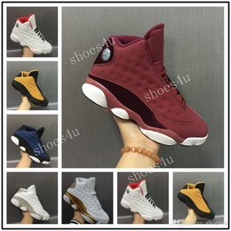 Wholesale Velvet Fur - Wholesale High Quality New 13 XIII Wine Red Velvet Heiress Men Basketball Shoes Athletic Outdoor Sneakers On Sale With Box
