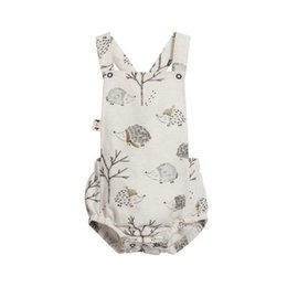 Wholesale christmas rompers for babies - Baby Jumpsuits Infant Girl Rompers Little Hedgehog Stampa Style Clothing for Baby 66 73 80 90 100CM