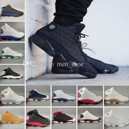 Calzado real online-Air Hyper Royal 13 Zapatillas de baloncesto para hombre Zapatillas de deporte de oliva Blanco azul Negro Ejército Verde Cesta de trigo Entrenador 13s Calzado deportivo 41-47