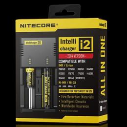 trasformatore asus pad Sconti NITECORE I2 I4 D2 Caricatore intelligente per 18650 14500 16340 26650 batteria agli ioni di litio Nota US / EU / AU / UK Spedizione gratuita