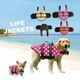 Wholesale Swimming Dogs - Small Dog Pet Life Jacket Coat Puppy Safety Float Vest Life Preservers Comfortable Dog Water Swimming Vest Jacket