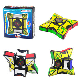 Wholesale novelty kids - Cube Spinner Fidget Cubes Spinning Magic Cube EDC Anti-stress Rotation Spinners Fidget Spinners Decompression Novelty Toys for Kids