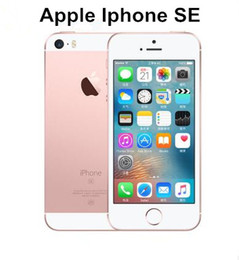 "Wholesale Chip Gold - Original Unlocked Apple iPhone SE 4.0"" inch 16 64 GB ROM 2GB RAM 12MP A9 Chip iOS 9.3 Fingerprint Dual-core 4G LTE refurbished Smartphone"