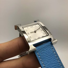 fdea5619afa 2019 senhoras relógio branco Super Qualidade de Luxo H Relógios Mostrador  Branco Mulheres Relógios de Quartzo