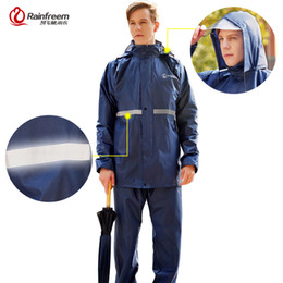 0a9ade43af7 China Rainfreem Raincoat Suit Impermeable Women Men Hooded Motorcycle  Poncho Motorcycle Rainwear S-6XL Hiking
