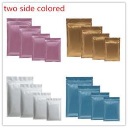 100pcs un sac en plastique de couleur Mylar Aluminium Foil Zipper Bag pour le stockage des aliments à long terme et la protection des objets de collection deux côtés de couleur ? partir de fabricateur