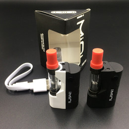 Wholesale free units - 1 Unit Imini Mod Kit Thick Oil Vaporizer Kit Liberty V1 Tank 500mAh Box Mod 0.5ml 1.0ml Vape Cartridges Free shipping