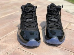 Wholesale Wrestling Shoes Mens Size 13 - 2018 Real Carbon Fiber Retro 11s PROM NIGHT BLACKOUT 378037-005 size 8-13 Men Athletic Sneakers Mens Basketball Shoes For Sale with box