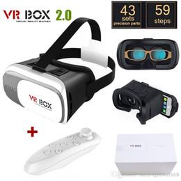 lunettes bleues pas cher Promotion 10X VR Box 2.0 + Lunettes de réalité virtuelle Gamepad 3D Casque Casque VR BOX Pour Smartphone 3,5 pouces ~ 6 pouces avec paquet de vente au détail A-XY