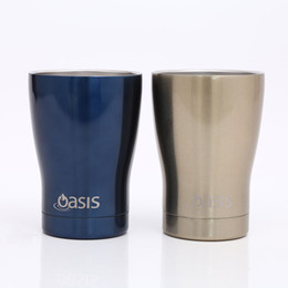 Wholesale Travel Juice Cup - 12oz Travel Tumblers Beer Mugs New 2018 Stainless Steel Juice Cup Office Mugs Large Capacity Watter Bottle With Lids In Withe Box TY7-408