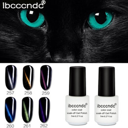 small polish bottle Coupons - New 7ml Small White Bottle 3D Magic Cat Eye Gel Nail Polish Color Coat Soak-off Gel Nail Polish Cat Eye