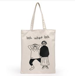 weiße farbe handtaschen Rabatt Hochwertige Frauen Männer Handtaschen Leinwand Tote Taschen Wiederverwendbare Baumwolle Einkaufstasche Webshop Eco Faltbare Einkaufswagen Trolley Freies Schiff