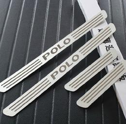 Vw sills on-line-Venda Por Atacado Excelente Novo Para VW POLO 2011 2012 2013 2014 2015 Volkswagen acessórios de polo de aço Inoxidável Porta da soleira do carro styling