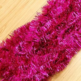 Wholesale Wholesale Christmas Tinsel Garland - 2m (6.5 Ft) Christmas Tinsel Tree Decorations Tinsel Garland red