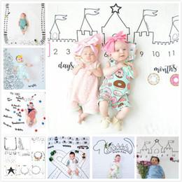 Couverture berceau garçon en Ligne-Ins Hot bébé nouveau-né Photographie fond Props bébé garçons filles Berceaux couvertures lettre Cartoon tissu Pâques décors couvertures pour bébés