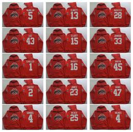 Wholesale 23 sweatshirt - 2 Carter 4 Samuel 23 James 25 Weber 27 George 45 Griffin Ohio State Buckeyes Men Jerseys Hoodie Hooded Sweatshirt Jackets Jersey