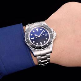 Wholesale Deep Bezel - Classic brand DEEP series 116660 44MM dial ceramic bezel original strap 2836 high-quality automatic movement sports watch sea dweller watch