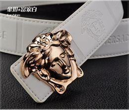 Wholesale Cow Woman Leather Belt - 2018 Ver Design Buckle Belt Men Women Fashion Designer Belts Luxury Cow Genuine Leather Belts Waist