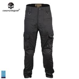 2019 engranaje de camuflaje Al por mayor-Emersongear Trainning Pantalones Gen3 con Almohadillas Insertadas Army Airsoftsports Tactical Gear Pantalones de camuflaje TAN Negro Multicam WG engranaje de camuflaje baratos