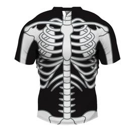 Maglietta del cranio dei ragazzi neri online-Skull Cosplay t shirt Uomo Gothic Black Tee Top Fitness 2018 Nuovo Design T-Shirt Hip Hop Streetwear Ragazzi Casual Abbigliamento 3D