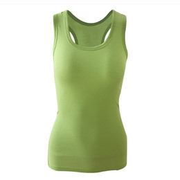 Argentina 2018 Summer Sexy Low-cut Basic Camisetas Tank Top Solid Cotton Self-cultivati Sleeveless Camisole Tops Chaleco de mujer cheap solid basic tank top Suministro