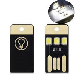 Porta portátil led led light lamp on-line-Mini USB LED Light Ultra Low Chips De Potência Cartão De Bolso Lâmpada Lanternas Portáteis Noite Caminhadas equipamentos de Viagem de Acampamento 0 7d bbWW