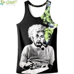 df9025859b5 funny running tops Rebajas Divertido pipa fumar Einstein Imprimir hombres  corriendo chaleco novedad Harajuku camiseta masculina