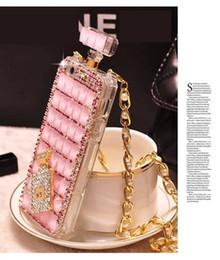 Accessoires de gravité en Ligne-Pour iPhone7 / 8 Diamant Bouteille De Parfum Téléphone Accessoires Anti Gravity Lady De Luxe Femmes Cas pour Iphone 6s Plus iphonex