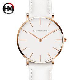 89adad256fe senhoras relógio branco Desconto Dropshipping japão quartzo simples  mulheres moda watch pulseira de couro branco senhoras