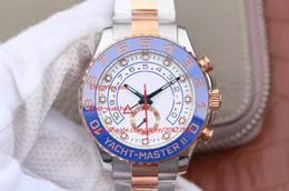 Azul de cerámica rosa online-De calidad superior de lujo AAA Relojes de pulsera 116688 Azul Cerámica Bisel Rosa Dorado Perpetuo Automático Mecánico 2 tonos Relojes para hombre Relojes