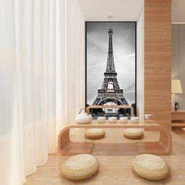 Wholesale Paris Art Canvas - Custom Canvas Art France Paris Poster Paris Wallpaper Eiffel Tower Wall Stickers Eiffel Tower Mural Bedroom Decoration