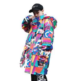2018 Unisex giapponese High Street Style Ukiyoe Wadded Jacket con cappuccio Yamato-e Hip Hop Patchwork Jacket Cappotto giapponese di design artistico da giacche militari per giubbotti per uomo fornitori