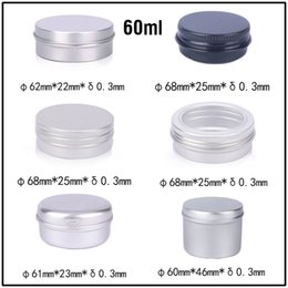 Wholesale lip balm tin containers wholesale - New 60ml Empty Aluminum Cream Jars Tins Cosmetic Lip Balm Containers Nail Derocation Cans Crafts Storage Pots Bottles