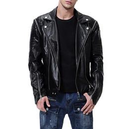 2019 types men s jackets 2018 новый стиль съемный рукав тип личности мужской мотоцикл кожаная куртка Европейский и американский кожаная куртка скидка скидка types men s jackets