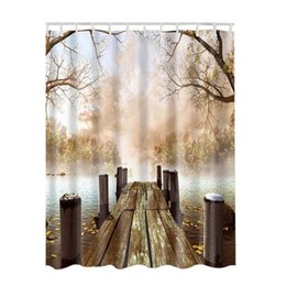 2018 Hauptbild 3d 3D Vorhang Badezimmer Rustic Home Kunst Gemälde Bilder  Muster Dusche Wasserdichtes Gewebe Lake