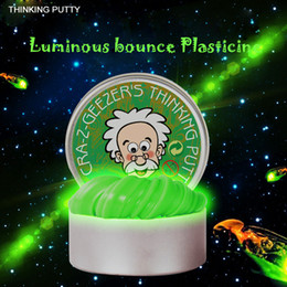 Wholesale Color Changing Toys - Luminous Thinking Putty DIY Intelligent Creative Hand Gum Temperature Change Turns Color Slime Silly Magnetic Toys Plasticine Mud Steel box