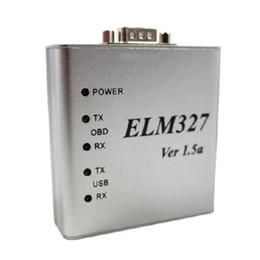 peugeot interface Australia - 10pcs Highly Recommanded ELM327 Metal Aluminum OBD2 Auto Diagnostic Tool ELM 327 USB Metal Interface Code Reader Scanner V1.5 V1.5a