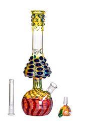 2019 bongo de vidro 13 polegadas Difusor novo original do difusor do estilo da tubulação de água grossa do arco-íris do cogumelo de Bong do cogumelo Downstem 13 polegadas e junção de 18mm bongo de vidro 13 polegadas barato