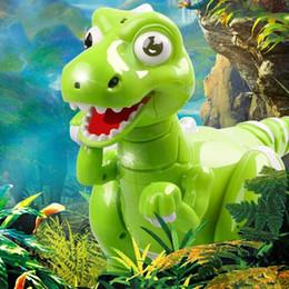 Mando a distancia robótico online-RC Dinosaur Robot Toys Dinosaurio Control remoto interactivo Robotic Radio Control Dinosauro Juguetes electrónicos Artículos de novedad CCA10539 12 unids