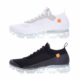 Wholesale Womens Casual Walking Shoes - 2018 Vapormax trainers black white For Mens Womens luxury knitting Fashion designer Breathe vapormaxs Athletic Walking Outdoor Casual Shoes